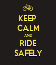 KEEP  CALM AND RIDE SAFELY - Personalised Tea Towel: Premium