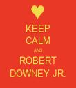 KEEP CALM AND ROBERT DOWNEY JR. - Personalised Tea Towel: Premium