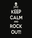 KEEP CALM AND ROCK OUT! - Personalised Tea Towel: Premium