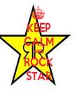 KEEP CALM AND ROCK STAR - Personalised Tea Towel: Premium
