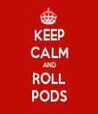 KEEP CALM AND ROLL PODS - Personalised Tea Towel: Premium