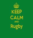 KEEP CALM AND Rugby  - Personalised Tea Towel: Premium