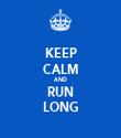 KEEP CALM AND RUN LONG - Personalised Tea Towel: Premium