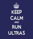 KEEP CALM AND RUN ULTRAS - Personalised Tea Towel: Premium