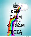 KEEP CALM AND RZYGAM TĘCZĄ - Personalised Tea Towel: Premium
