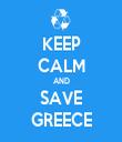 KEEP CALM AND SAVE GREECE - Personalised Tea Towel: Premium
