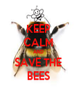 KEEP CALM AND SAVE THE BEES - Personalised Tea Towel: Premium