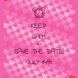 KEEP CALM AND SAVE THE DATE! JULY 14th - Personalised Tea Towel: Premium