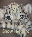 KEEP CALM AND Save the Snow leopard - Personalised Tea Towel: Premium
