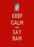 KEEP CALM AND SAY RAM - Personalised Tea Towel: Premium
