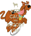KEEP CALM AND SCOOBY ON - Personalised Tea Towel: Premium