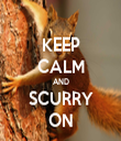 KEEP CALM AND SCURRY ON - Personalised Tea Towel: Premium