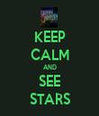 KEEP CALM AND SEE STARS - Personalised Tea Towel: Premium