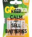 KEEP CALM AND SELL BATTERIES - Personalised Tea Towel: Premium
