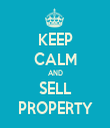 KEEP CALM AND SELL PROPERTY - Personalised Tea Towel: Premium