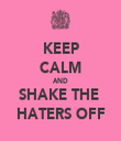 KEEP CALM AND SHAKE THE  HATERS OFF - Personalised Tea Towel: Premium