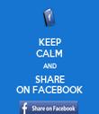 KEEP CALM AND SHARE ON FACEBOOK - Personalised Tea Towel: Premium