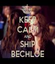 KEEP CALM AND SHIP BECHLOE - Personalised Tea Towel: Premium