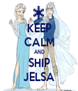 KEEP CALM AND SHIP JELSA - Personalised Tea Towel: Premium