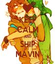 KEEP CALM AND SHIP MAVIN - Personalised Tea Towel: Premium