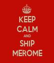 KEEP CALM AND SHIP MEROME - Personalised Tea Towel: Premium