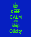 KEEP CALM AND Ship Olicity - Personalised Tea Towel: Premium