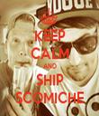 KEEP CALM AND SHIP SCOMICHE - Personalised Tea Towel: Premium