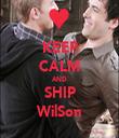 KEEP CALM AND SHIP WilSon - Personalised Tea Towel: Premium