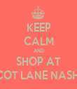 KEEP CALM AND SHOP AT APRICOT LANE NASHVILLE - Personalised Tea Towel: Premium