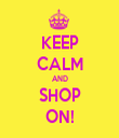 KEEP CALM AND SHOP ON! - Personalised Tea Towel: Premium