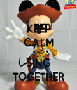 KEEP CALM AND SING TOGETHER - Personalised Tea Towel: Premium