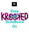 Keep Calm And SkateBoard On - Personalised Tea Towel: Premium