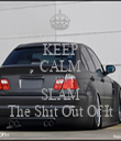 KEEP CALM AND SLAM The Shit Out Of It - Personalised Tea Towel: Premium