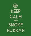 KEEP CALM AND SMOKE HUKKAH - Personalised Tea Towel: Premium