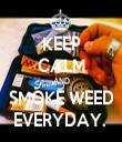 KEEP CALM AND SMOKE WEED EVERYDAY.  - Personalised Tea Towel: Premium