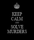 KEEP CALM AND SOLVE MURDERS - Personalised Tea Towel: Premium