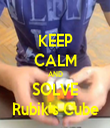 KEEP CALM AND SOLVE Rubik's Cube - Personalised Tea Towel: Premium