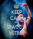 KEEP CALM AND SPACC E' VETRIN - Personalised Tea Towel: Premium