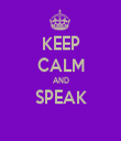 KEEP CALM AND SPEAK  - Personalised Tea Towel: Premium