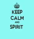KEEP CALM AND SPIRIT   - Personalised Tea Towel: Premium