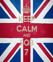 KEEP CALM AND SQB 7 - Personalised Tea Towel: Premium