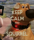 KEEP CALM AND ... SQUIRREL - Personalised Tea Towel: Premium