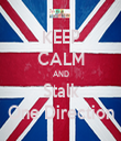 KEEP CALM AND Stalk One Direction - Personalised Tea Towel: Premium
