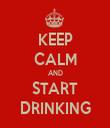 KEEP CALM AND START DRINKING - Personalised Tea Towel: Premium