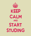 KEEP CALM AND START STUDING - Personalised Tea Towel: Premium