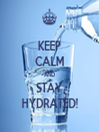 KEEP CALM AND STAY HYDRATED! - Personalised Tea Towel: Premium