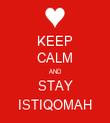 KEEP CALM AND STAY ISTIQOMAH - Personalised Tea Towel: Premium