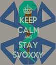 KEEP CALM AND STAY SVOXXY - Personalised Tea Towel: Premium