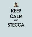 KEEP CALM AND STECCA  - Personalised Tea Towel: Premium