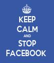 KEEP CALM AND STOP FACEBOOK  - Personalised Tea Towel: Premium